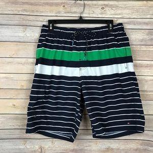 Tommy Hilfiger Stripe Drawstring Board Shorts